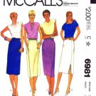 1980's McCall's 6981 Sewing Pattern Misses Straight Skirts Size 14 - Waist 28