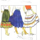 1980&#39;s Butterick 4260 Sewing Pattern Misses Boho Tiered Skirts Size 14 - Waist 28