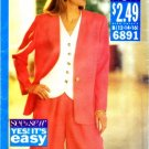 1990's See & Sew 6891 Sewing Pattern Misses Jacket Top Shorts Size 12 - 16 - Bust 34 - 38