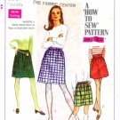 Vintage 1960's Simplicity 7735 Sewing Pattern Misses Skirts in Two Lengths Size 12 - Waist 25 1/2