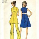 Vintage 1970's Simplicity 5038 Sewing Pattern Misses Dress Tunic Pants Size 10 - Bust 32 1/2