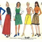 Vintage 1970's Simplicity 5128 Sewing Pattern Misses Long or Short Dress Size 10 - Bust 32 1/2