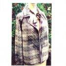 Faux Chenille 504 Sewing Pattern Raglan Jacket Size XS - XXL