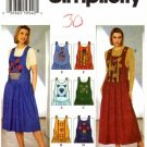 Simplicity 7373 Sewing Pattern Misses Shoulder Buttoned Jumper Size 8 - 12