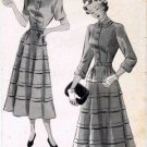 Vintage 1940's New York 392 Sewing Pattern Misses Square Neck Dress Size 12 - Bust 30