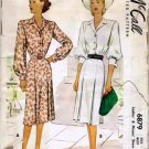 Vintage 1940's McCall's 6879 Sewing Pattern Misses Shirtwaist Dress Size 14