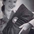 Vintage 1940&#39;s Envelope Bag Purse Crochet Pattern PDF