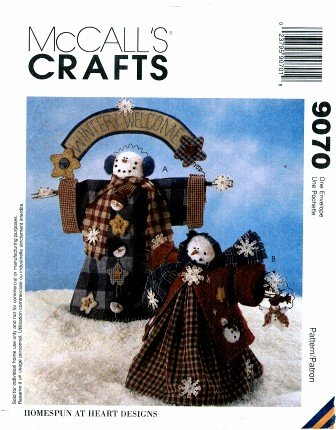 McCall's 9070 Crafts Sewing Pattern Wintery Welcome Snowman Snow People Dolls