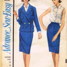 Advance 3411 Vintage Sewing Pattern Womens Suit Blouse Full Figure Bust 42