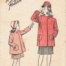 Advance 4149 Vintage Sewing Pattern Girls Coat Size 8