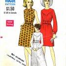 Vogue 7440 Vintage Sewing Pattern A-line Jewel Neck Dress Size 12 Bust 34