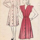 New York 868 Vintage Sewing Pattern Front Button Princess Dress Size 12 Bust 30