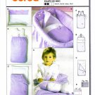 Burda 9807 Sewing Pattern Infants Accessories Bunting Bag Pillow