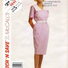 1990's McCall's 4845 Sewing Pattern Womens V-Neck Dress Size 14 - 16 - 18