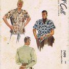 1940's McCall 7499 Vintage Sewing Pattern Mens Sports Shirt Chest 34 - 36