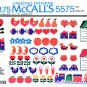 1970's McCall's 5575 Vintage Transfer Pattern Set of Iron-On Transfers
