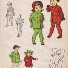1940's Du Barry 5727 Girls Boys Coat Leggings Vintage Sewing Pattern Size 1