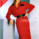 1980s See & Sew 5528 Womens Straight Blouson Dress Vintage Sewing Pattern Size 14 - 16 - 18
