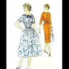 1950s Simplicity 2423 Misses Sheath or Full Skirt Dress Vintage Sewing Pattern Size 18 1/2 Bust 39