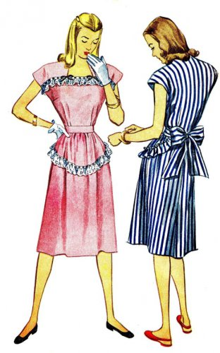 1940s simplicity 1912 womens dress vintage sewing pattern size 14 bust