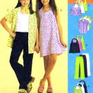 McCall's 2569 Girls Halter Dress Top Shirt Pants Sewing Pattern Size 10 - 12 - 14