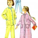 1950s Simplicity 2253 Girls Pajamas Nightshirt Vintage Sewing Pattern Size 8