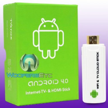 MINI ANDROID 4.0 TV INTERNET STREAMING CLOUD STICK HDMI MEDIA PLAYER TURN ANY HDMI SCREEN INTO A PC