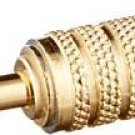 Monoprice 107158 3.5mm Mono Plug to 3.5mm Stereo Jack Adaptor, Gold Plated