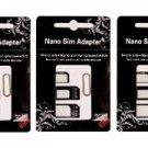 SIM CARD ADAPTER KIT 3-Pack (9 Total Adapters: Nano to Micro, Nano to Regular, Micro to Regular) wi