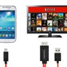 CyberTech 6.5 Feet MHL Micro USB to Hdmi 1080p Hdtv Adapter Cable for Samsung Galaxy S3 S4 S5 Note