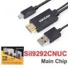 MAXAH 6.5 Feet Universal MHL Micro USB To HDMI HDTV Adapter For Samsung Galaxy S2 S3 S4 S5 Note 2 3