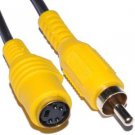 kenable Phono Composite Video to SVHS/S-Video Converter Cable Lead 20cm (~8 inch)