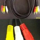 6 Ft 3 RCA 1 Video + 2 Audio Gold Plated Premium Composite Video Cable