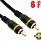 iMBAPrice® 6-Feet Composite Video Cable - 1RCA Male/1RCA Male High Quality