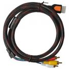 VIMVIP 5 FT 1.5m HDMI Male to 3RCA Male Extension Cable Converter Adapter for HDTV DVD