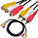 10ft 3RCA male to female Audio Composite extension Video Cable DVD