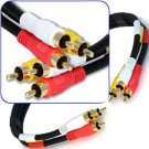 1.5 Foot Composite Cable (Yellow)Video & (White, Red) Stereo Audio RCA Connectors RG59/U Cord