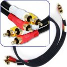 3 Foot Composite Cable (Yellow)Video & (White, Red) Stereo Audio RCA Connectors RG59/U Cord