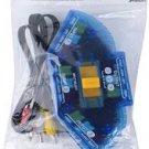 DNPY 237622 AV Audio Video RCA 3 Way Switch Splitter Plus Cable