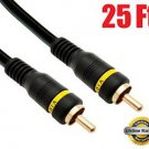 iMBAPrice® 25-Feet Composite Video Cable - 1RCA Male/1RCA Male High Quality