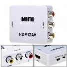 480P HDMI to AV 3RCA CVBS Composite Video Audio Converter Adapter