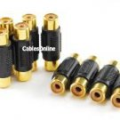 CablesOnline (10-pack) RCA Female to RCA Female Composite/Component Coupler - Gold Plated, (GC-