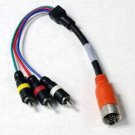 QualConnectTM EZ Pull Orange Male to 3 RCA (Composite Video and Stereo Audio) Male Adapter Cabl
