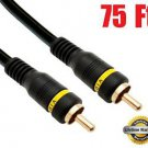 iMBAPrice® 75-Feet Composite Video Cable - 1RCA Male/1RCA Male High Quality