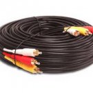 3 Rca Gold Audio Video Composite Cable (60ft)