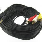 50' 7 Pin S-Video with 3.5mm Audio to 3 RCA Composite Cable PC to TV