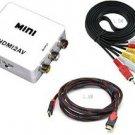 PILINK Mini real 1080p HDMI2AV Video Converter + High Speed HDMI Cable( 5 Feet)+ RCA Composite
