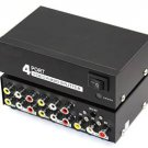 Panlong 1 to 4 Composite Video Audio 3RCA AV Powered Amplifier Splitter Box 1 In 4 Out 1x4