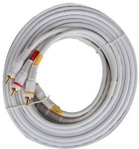 BattleBorn GC-PV2A-25W - PV2A-25W 25ft. Composite Video/Audio Cables (White)
