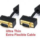 PTC Premium GOLD Series Ultra Slim 50 FT M/M VGA / SVGA Monitor LCD TV Cable w/ ferrites - For